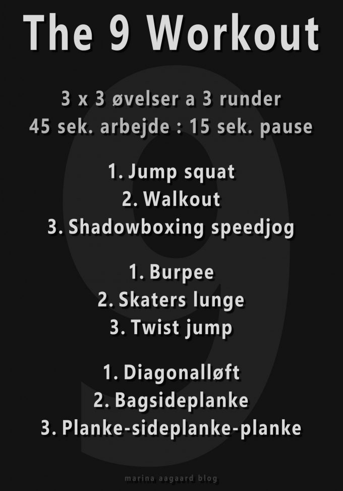 9 workout interval program Marina Aagaard blog fitness