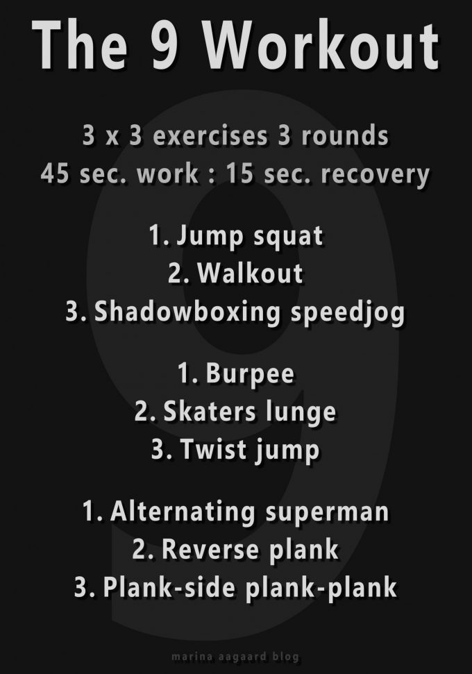 9 workout interval program model Marina Aagaard blog fitness
