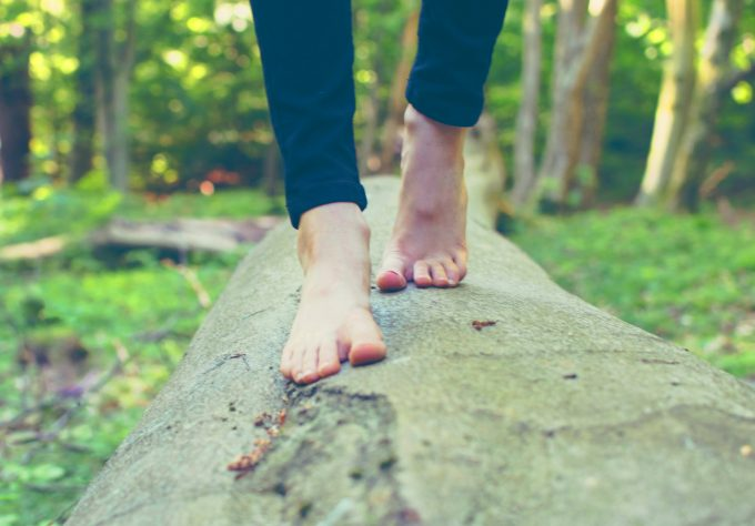 Bare fødder motion outdoor Michał Parzuchowski