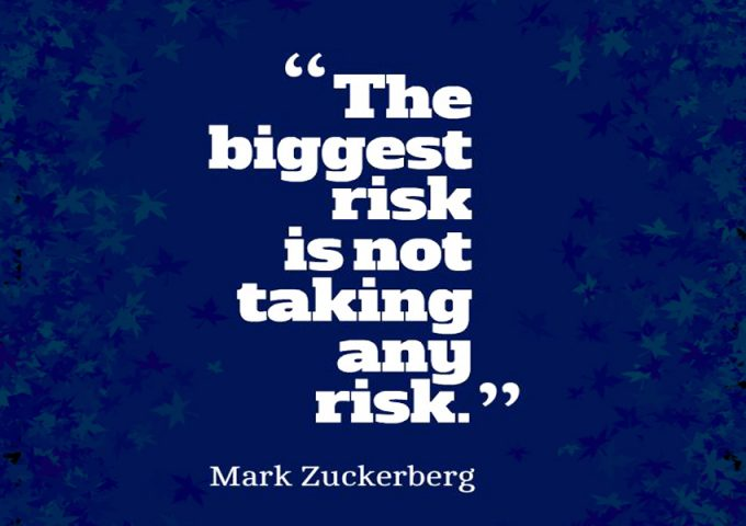 Løb risikoen motivation citat