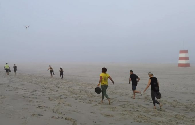 Fun scale type 2 TRX Navy SEAL beach workout