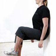 Wall sit test foto et ben Fitness Testning Marina Aagaard blog fitness