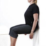 Wall sit test foto begge ben Fitness Testning Marina Aagaard blog fitness