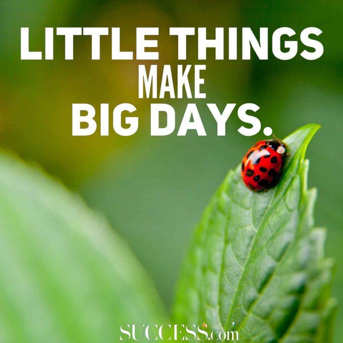 Motivation citat little things make big days