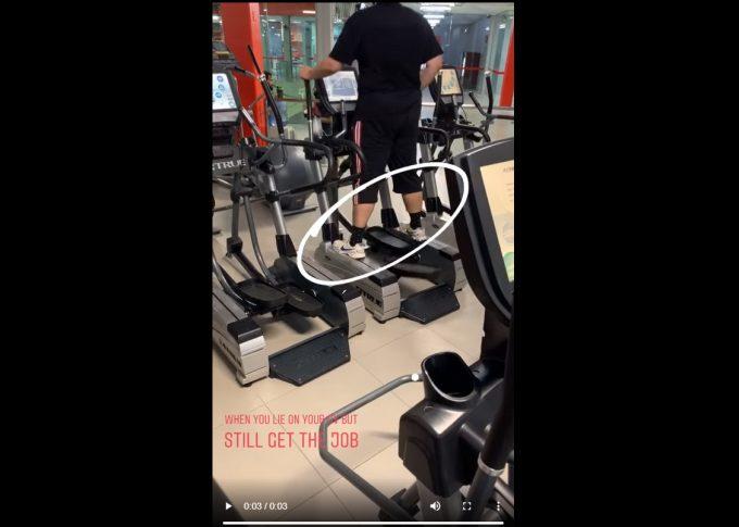 Usmart fitness 9GAG humor video crosstrainer