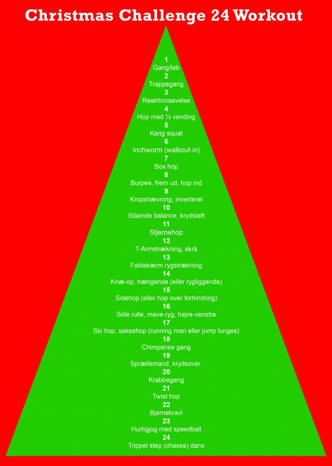Christmas Challenge 24 Workout 1-24