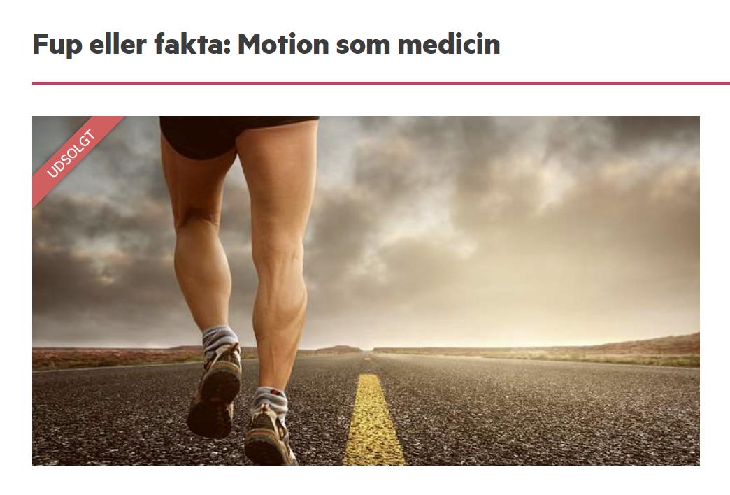 Motion som medicin foredrag Folkeuniversitetet Marina Aagaard