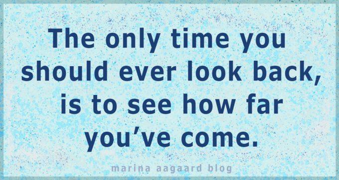 Se dig ikke tilbage Marina Aagaard blog motivation
