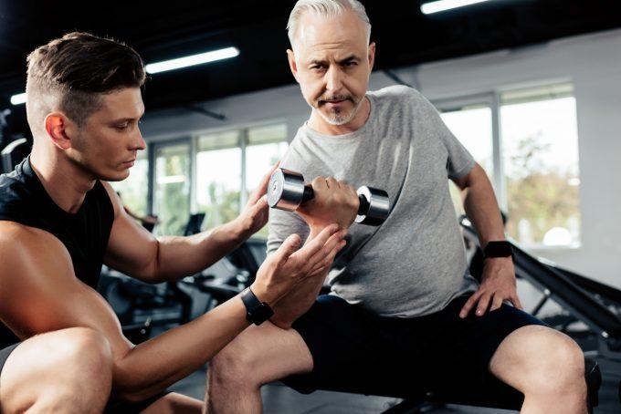 Senior fitness succes Deposit Photos