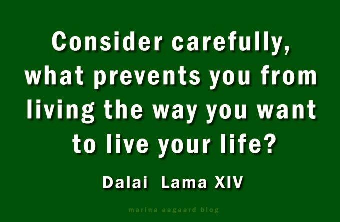 Lev dit liv Dalai Lama Marina Aagaard blog motivation