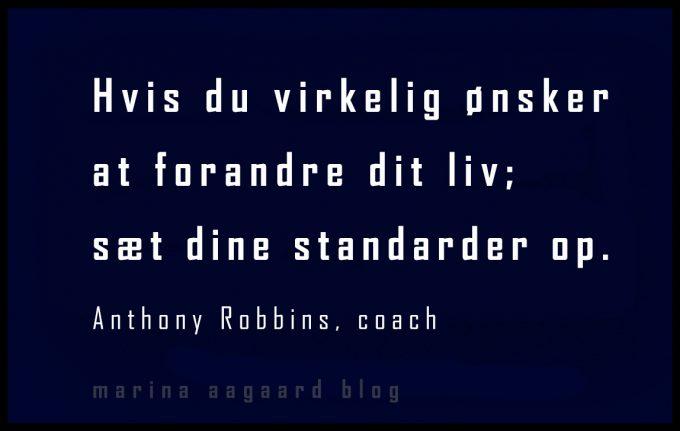 Sæt barren højere Standarder motivation Marina Aagaard blog