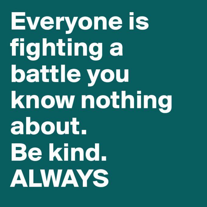 Vær venlig Altid Be kind always Motivation