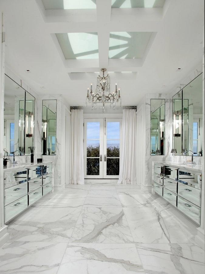 Long Silver Floor Mirror