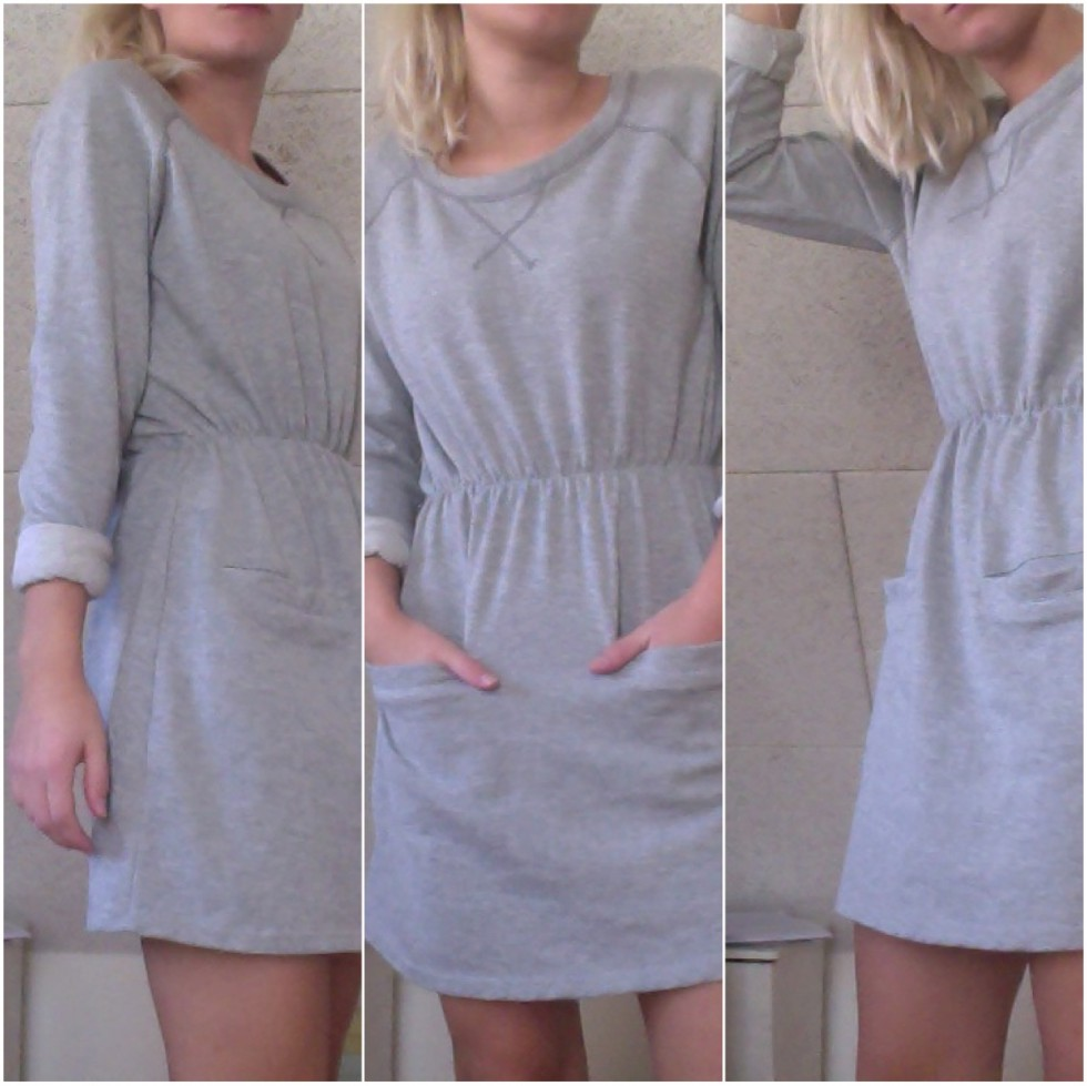 grå kjole