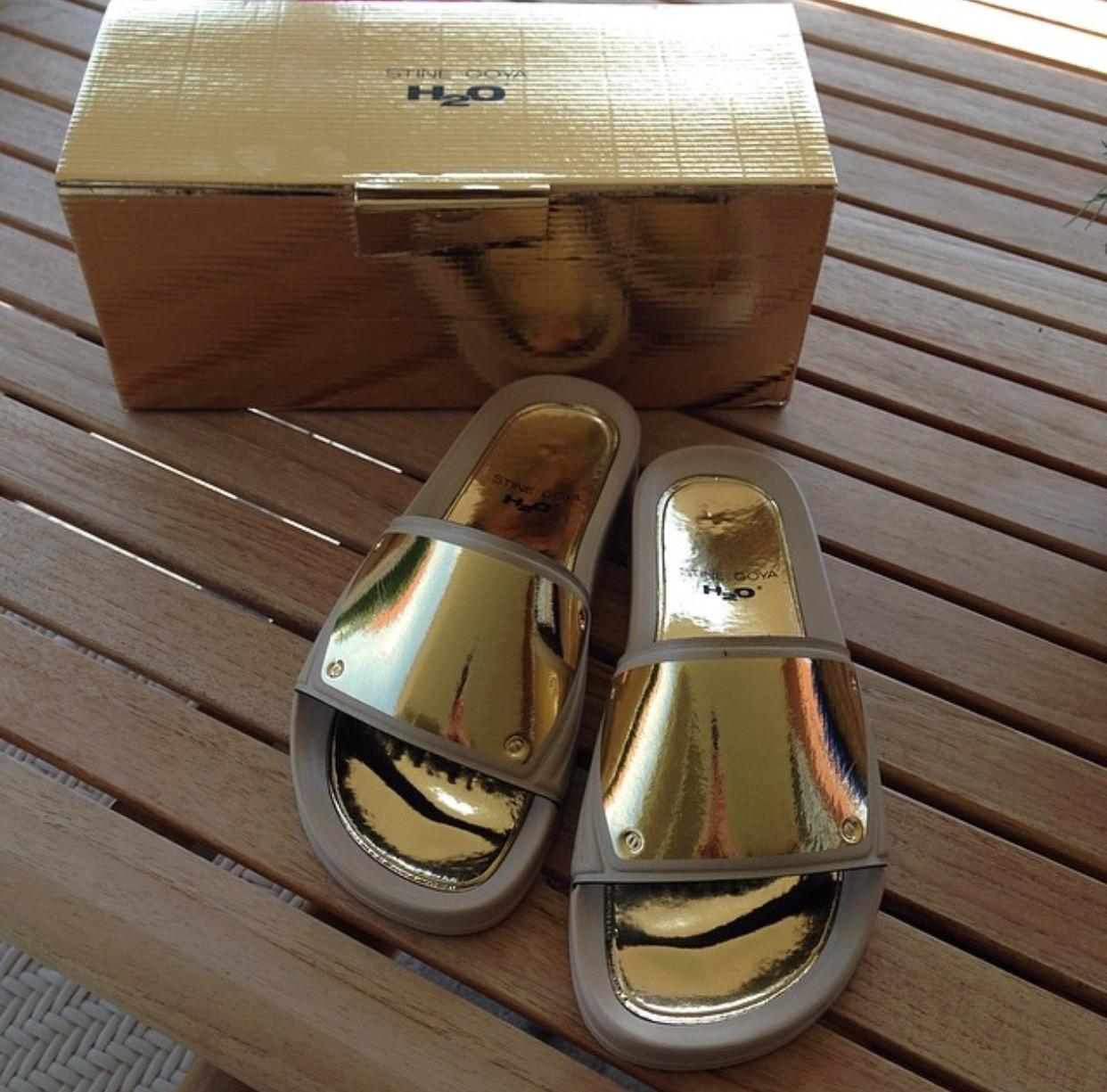 H2O SPortswear New Icon Sandal, WhiteGold   Badesandaler