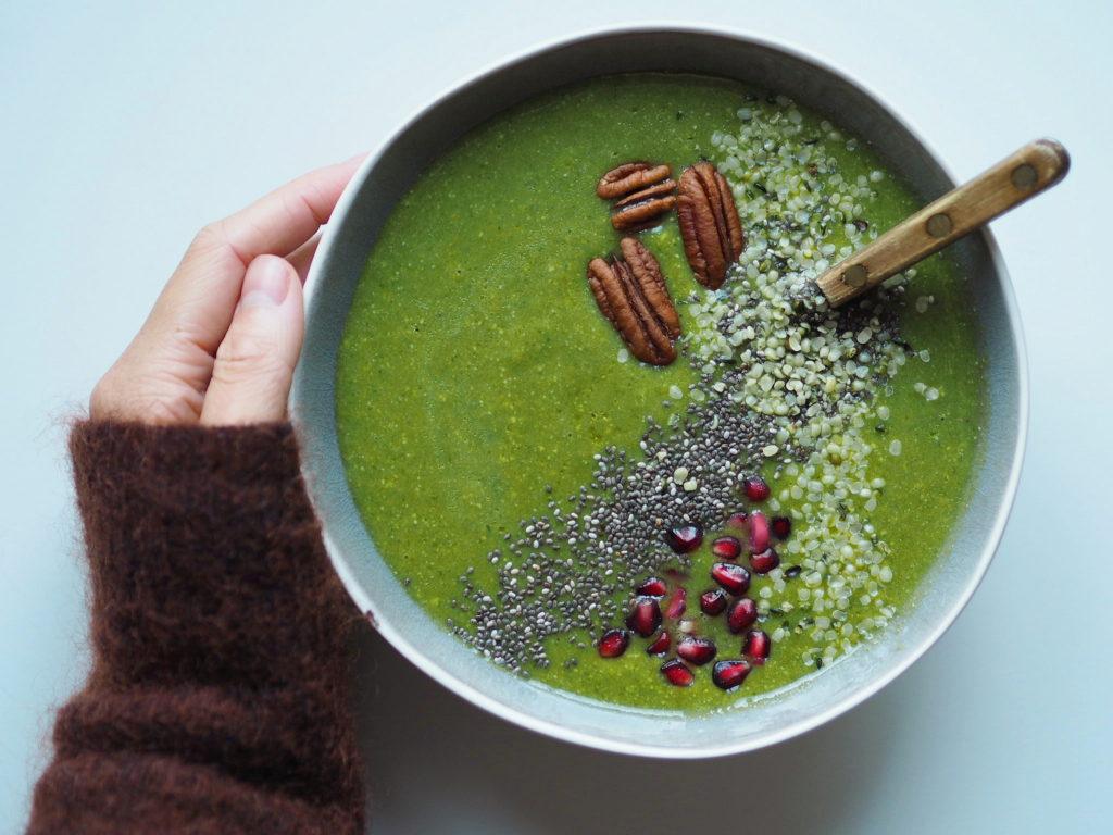 Grøn smoothie med edamamebønner