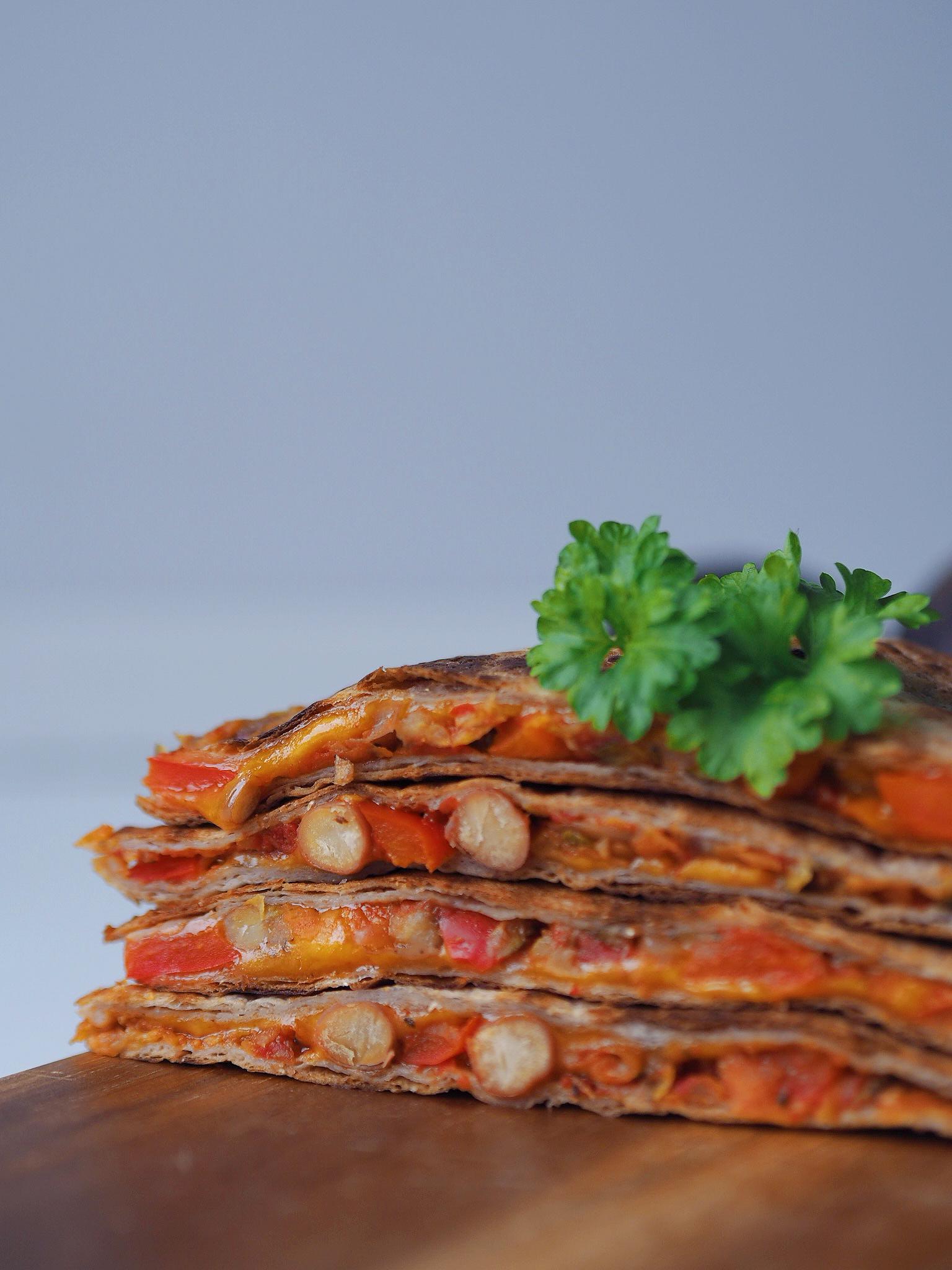 Quesadillas med bønnefyld