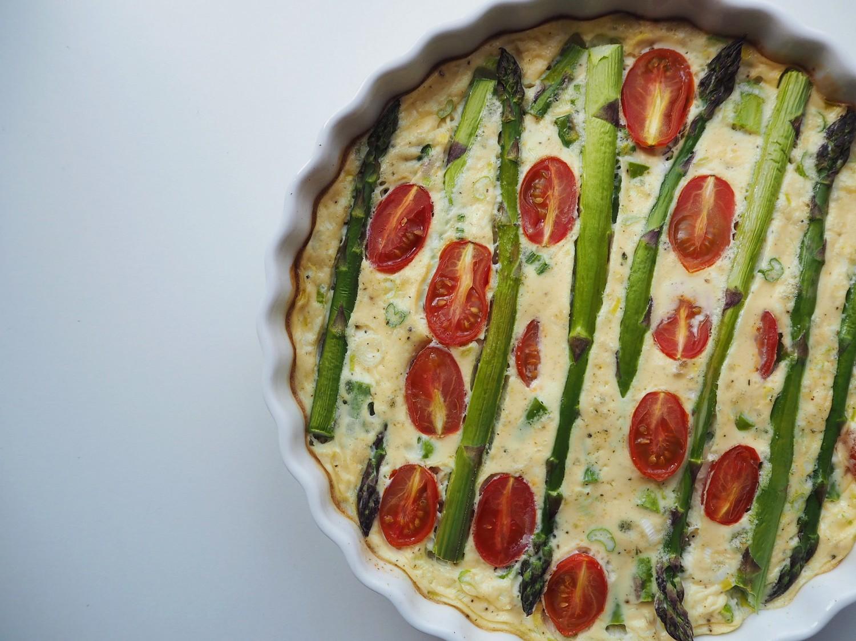 Grøntsagstærte uden bund