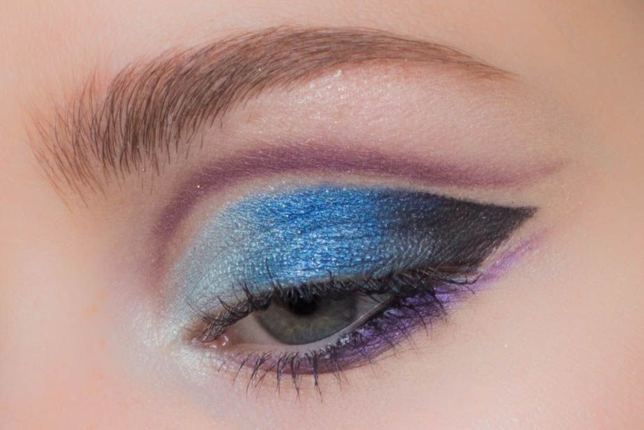 zendaya, zendaya cut crease, blue cut crease