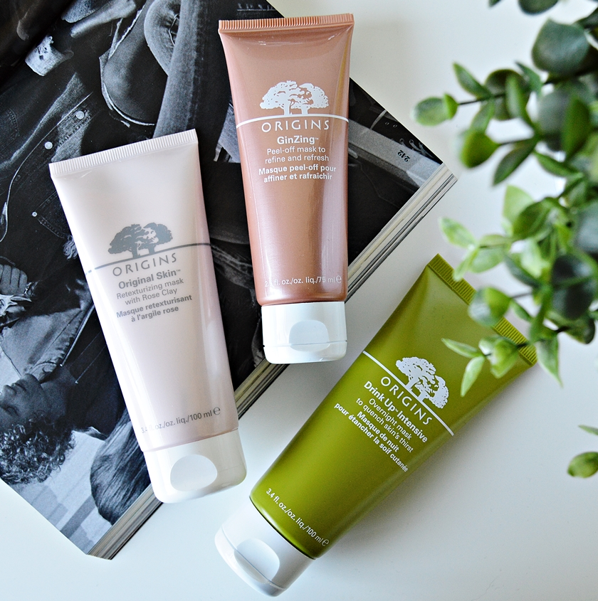 Origins Rose Clay Ginzing Peel-off Mask Drink-up Intensive Overnight Mask