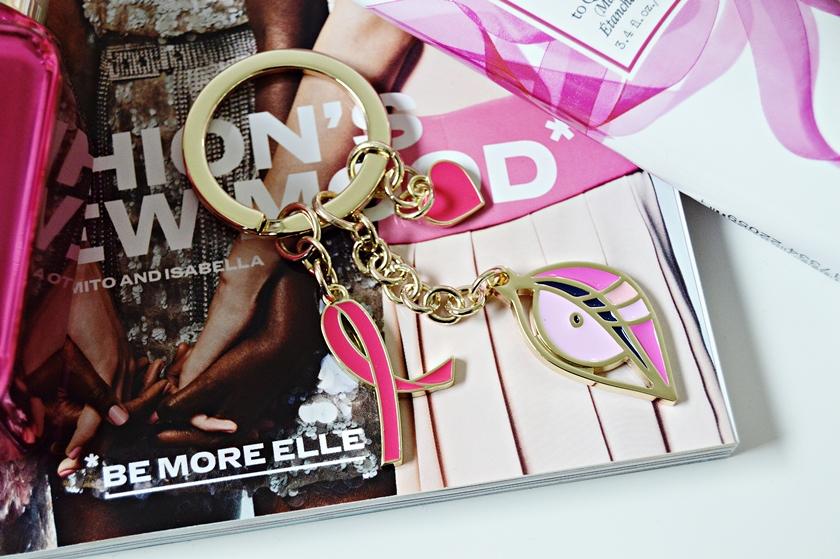 Estée Lauder Breast Cancer Awareness Keychain