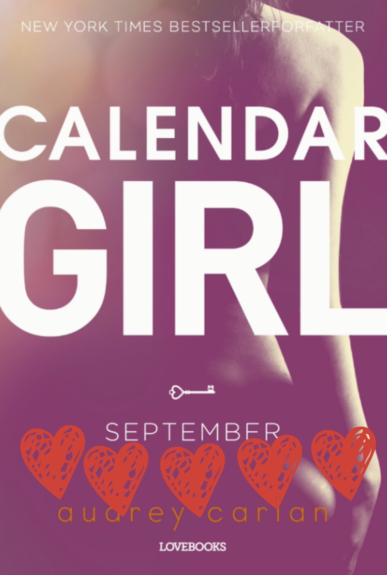 Calendar girl september med hjerter