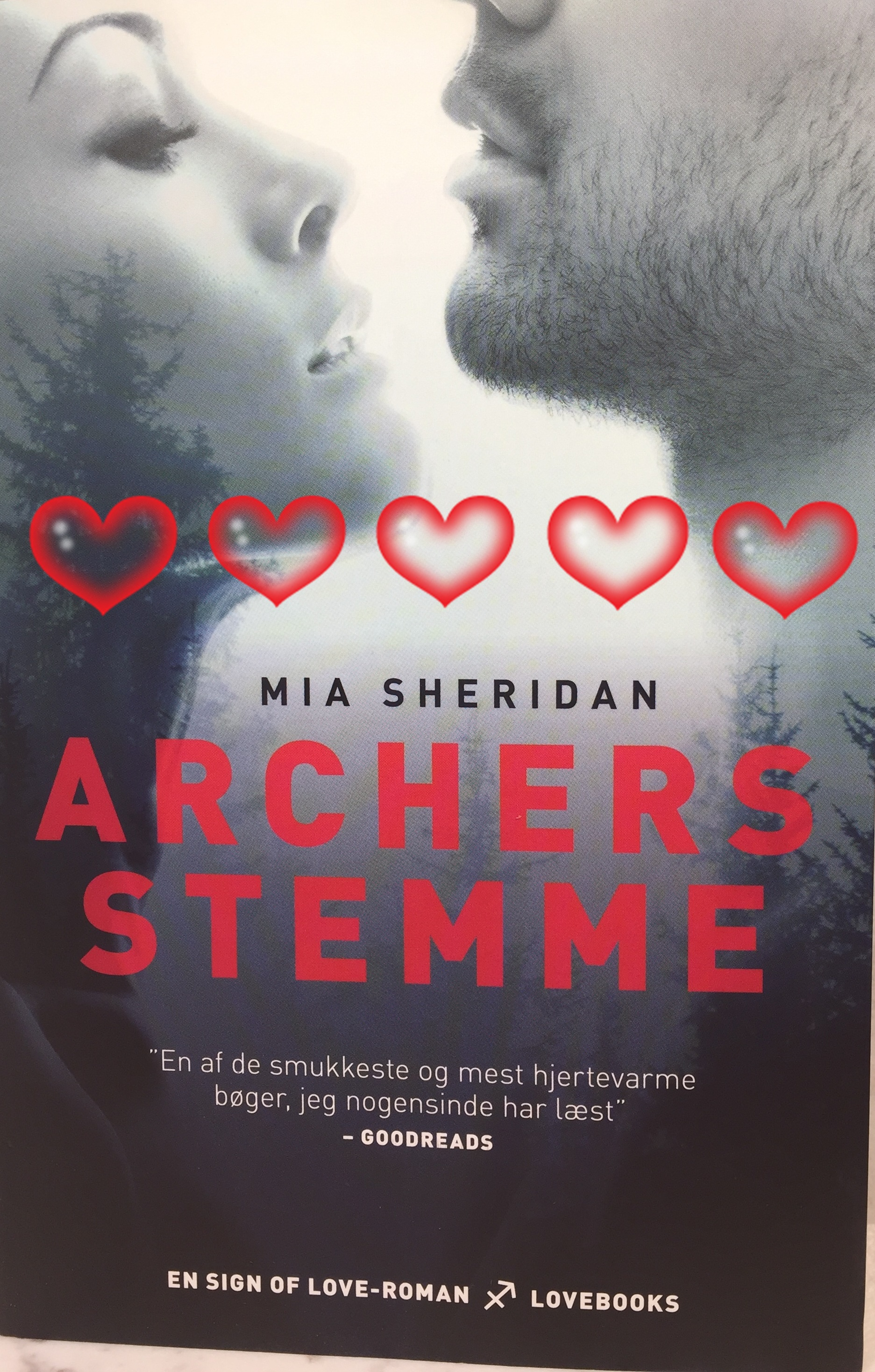 Archers Stemme, Boganmeldelse Archers Stemme, Mia Sheridan, Love Books, Lindhardt og Ringhoff, Anmeldereksemplar,