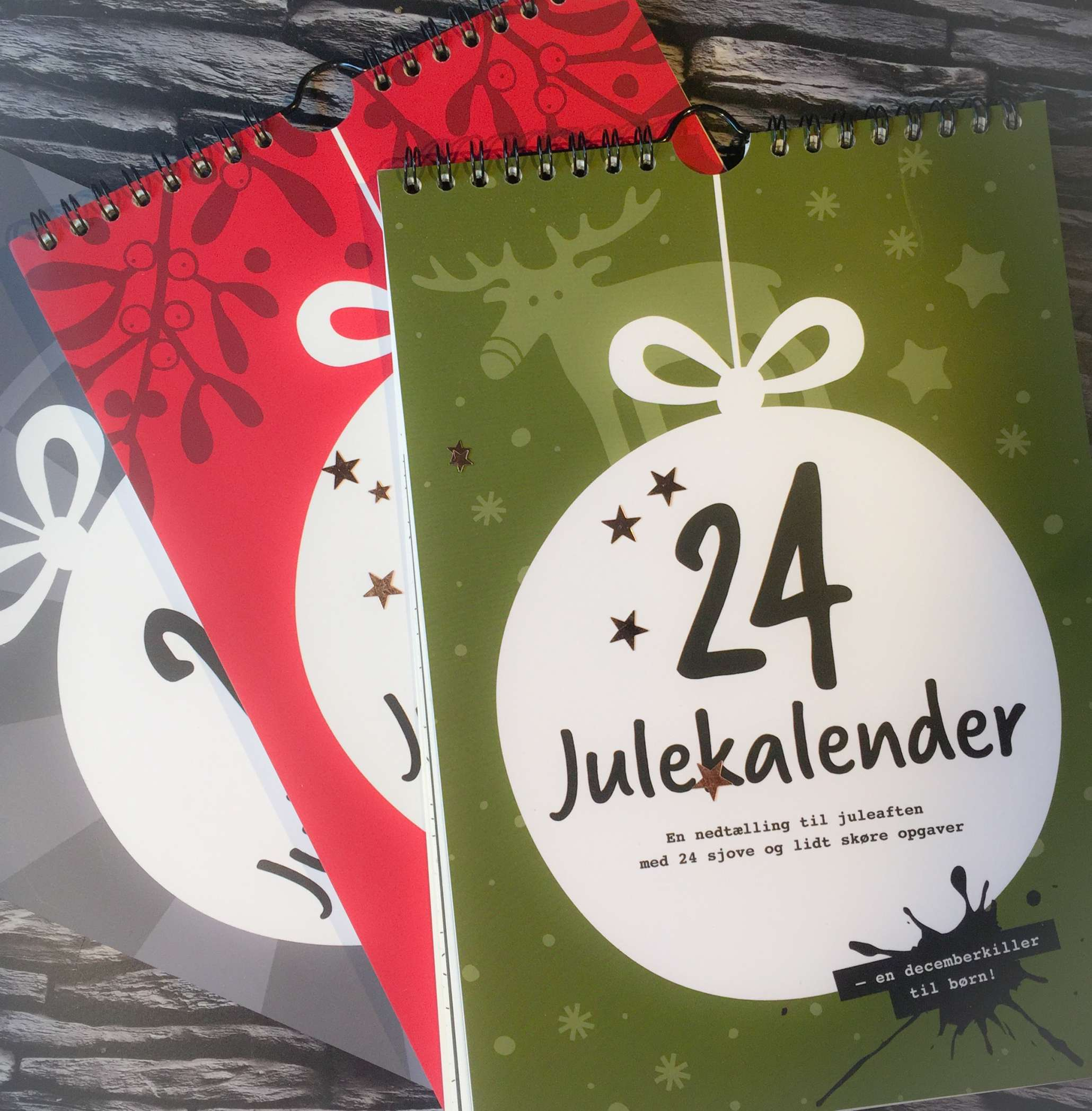 Julekalender, Julekalender 2017, 24Julekalender, 24 Julekalender, Julekalender Grøn, Julekalender Rød, Julekalender Grå, Julekalender til Juleskeptikere, Julekalender til Juleelskere, Julekalender Børn