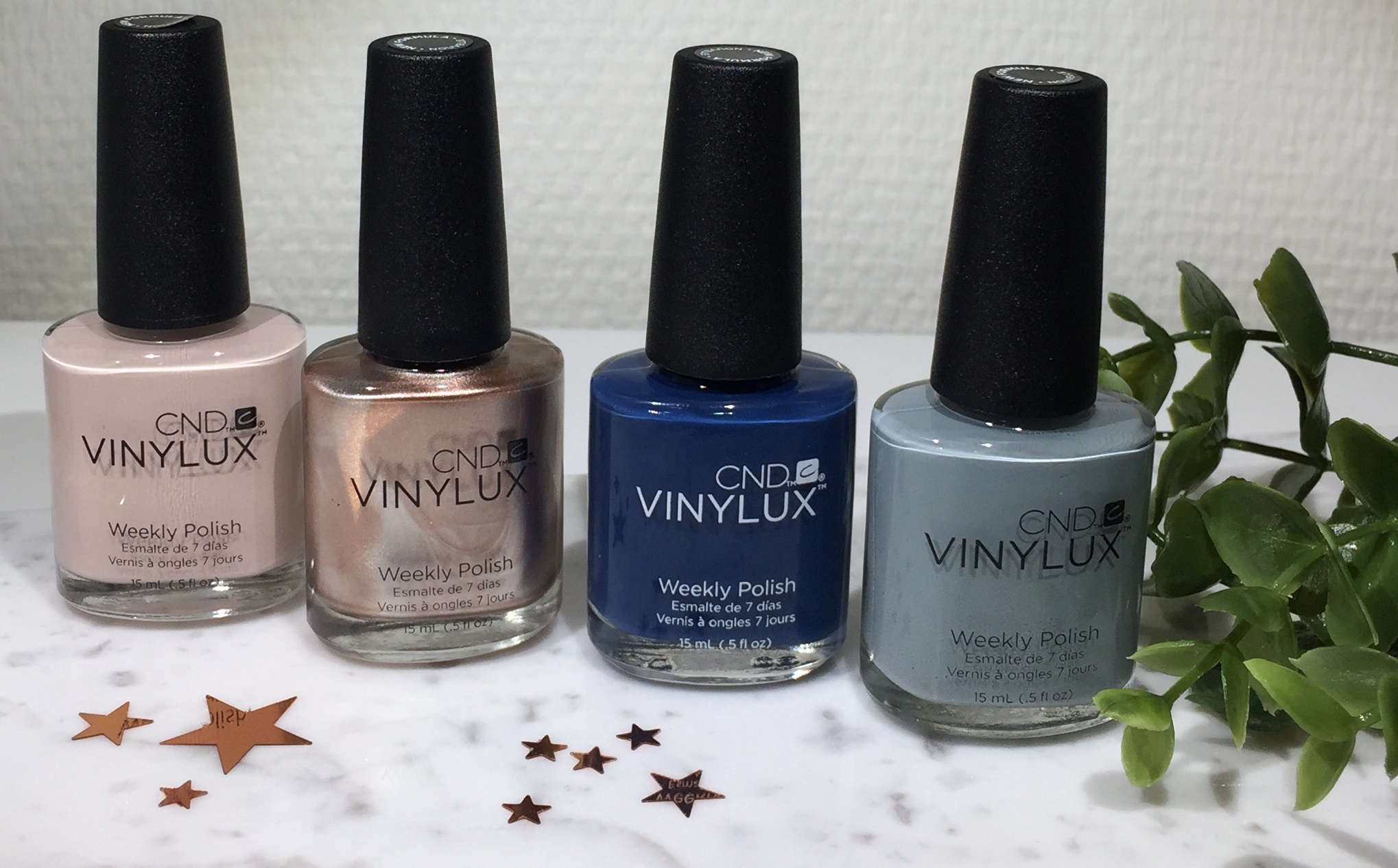 CND Vinylux, Glacial Illusion, Krummes Krummelurer, Swatches Glacial Illusion, Radiant Chill, Winter Nights, Cashmere Wrap, Mystic Slate,