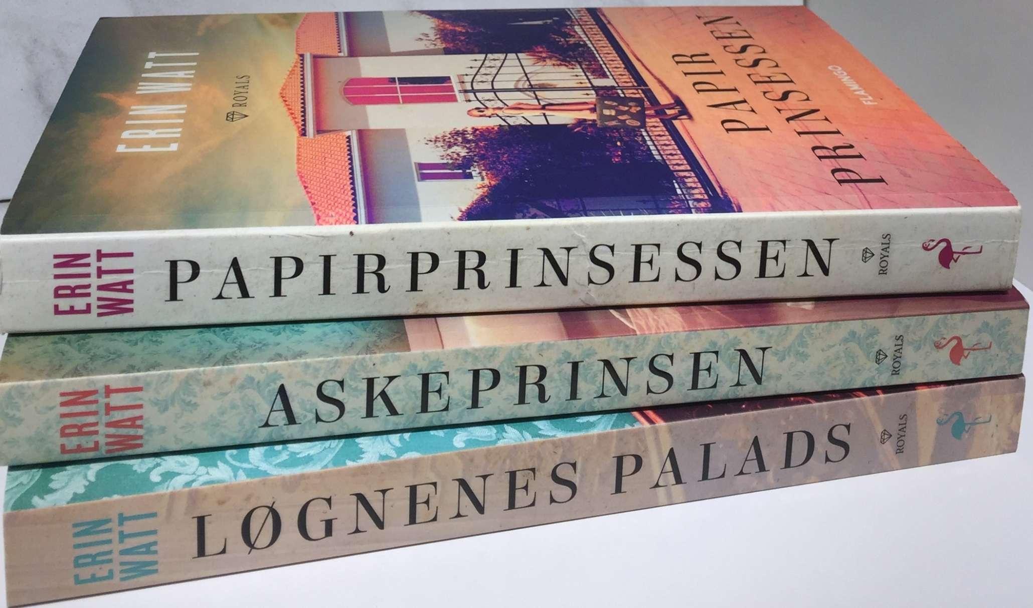 Erin Watt, Flamingo Books, Flamingo, Bøger der forfører, The Royals, Papirprinsessen, Akeprinsen, Løgnenes Palads, Krummeskrummelurer, Boganmeldelse, Anmeldereksemplar