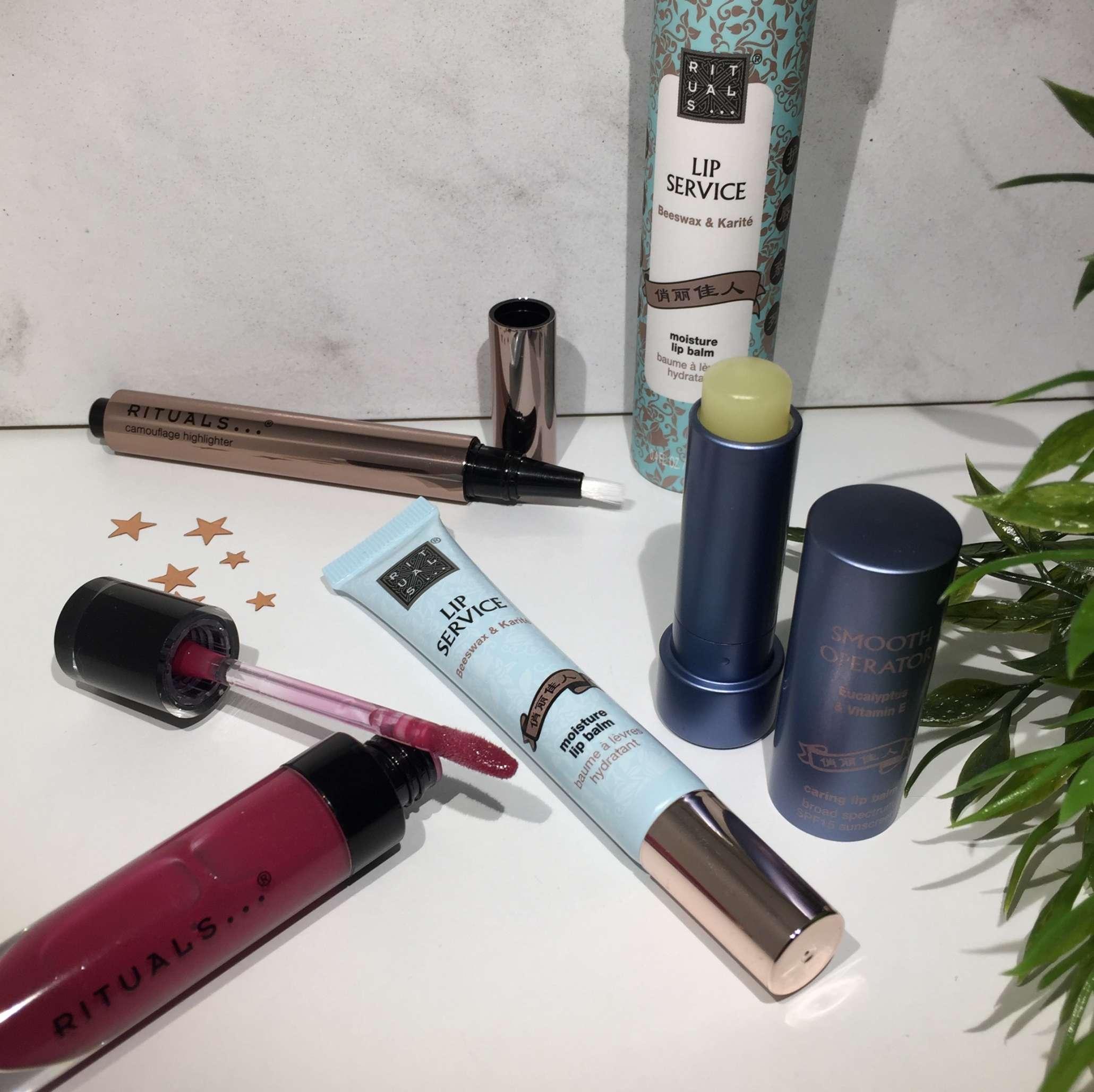 Rituals makeup, Rituals, Krummeskrummelurer, Highlighter, Lipgloss, Læbepomade,