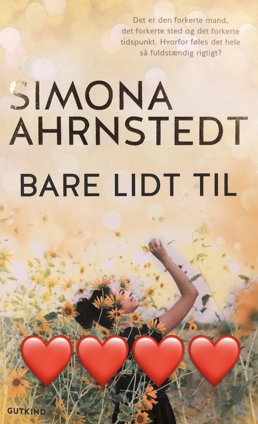 Bare lidt til, Simona Ahrnstedt, Gutkind, Gutkind Forlag, krummeskrummelurer, krummeskrummelurer.dk, boganmeldelse, anbefaling, anmeldereksemplar,