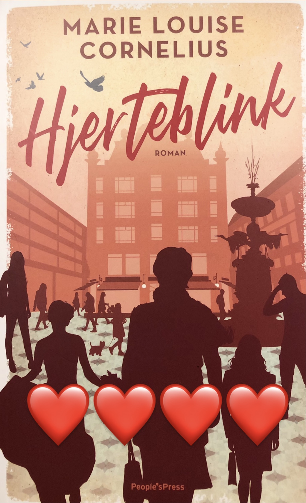 Hjerteblink, Marie Louise Cornelius, Peoples Press, debutant, debutroman, Hjertebånd, roman, kærlighed, krummeskrummelurer, krummeskrummelurer.dk, boganmeldelse, anbefaling, anmeldereksemplar,