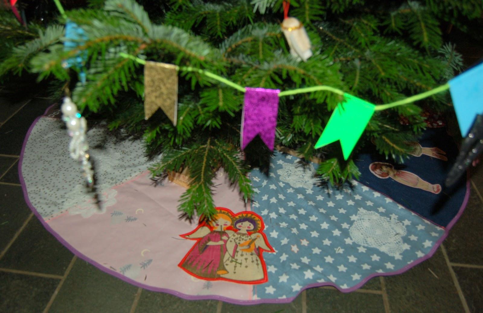 Hjemmesyet Juletræstæppe