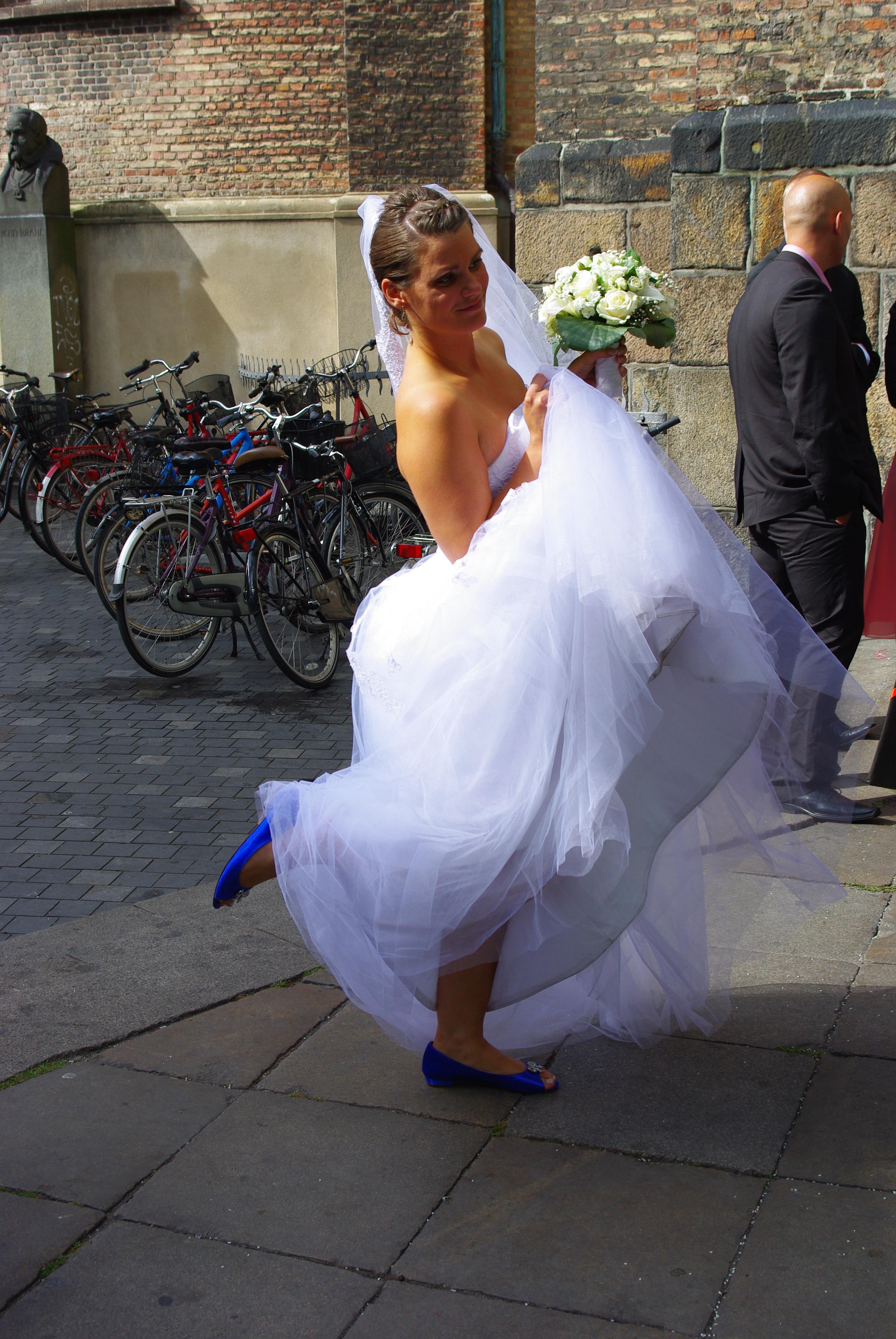Blå brudesko