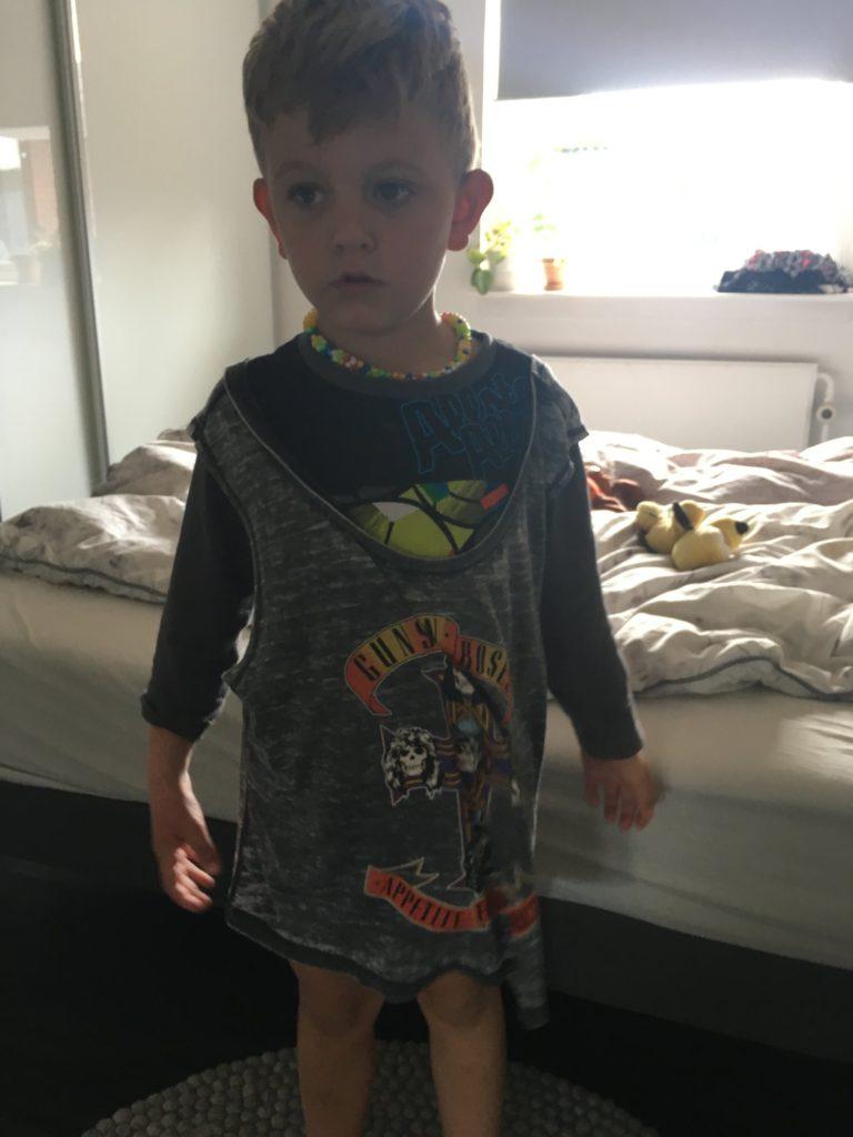 Guns n roses t-shirt til børn