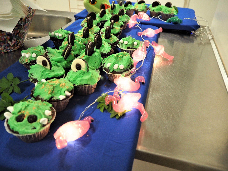 Krokodillekage sjov børnefødselsdagskage