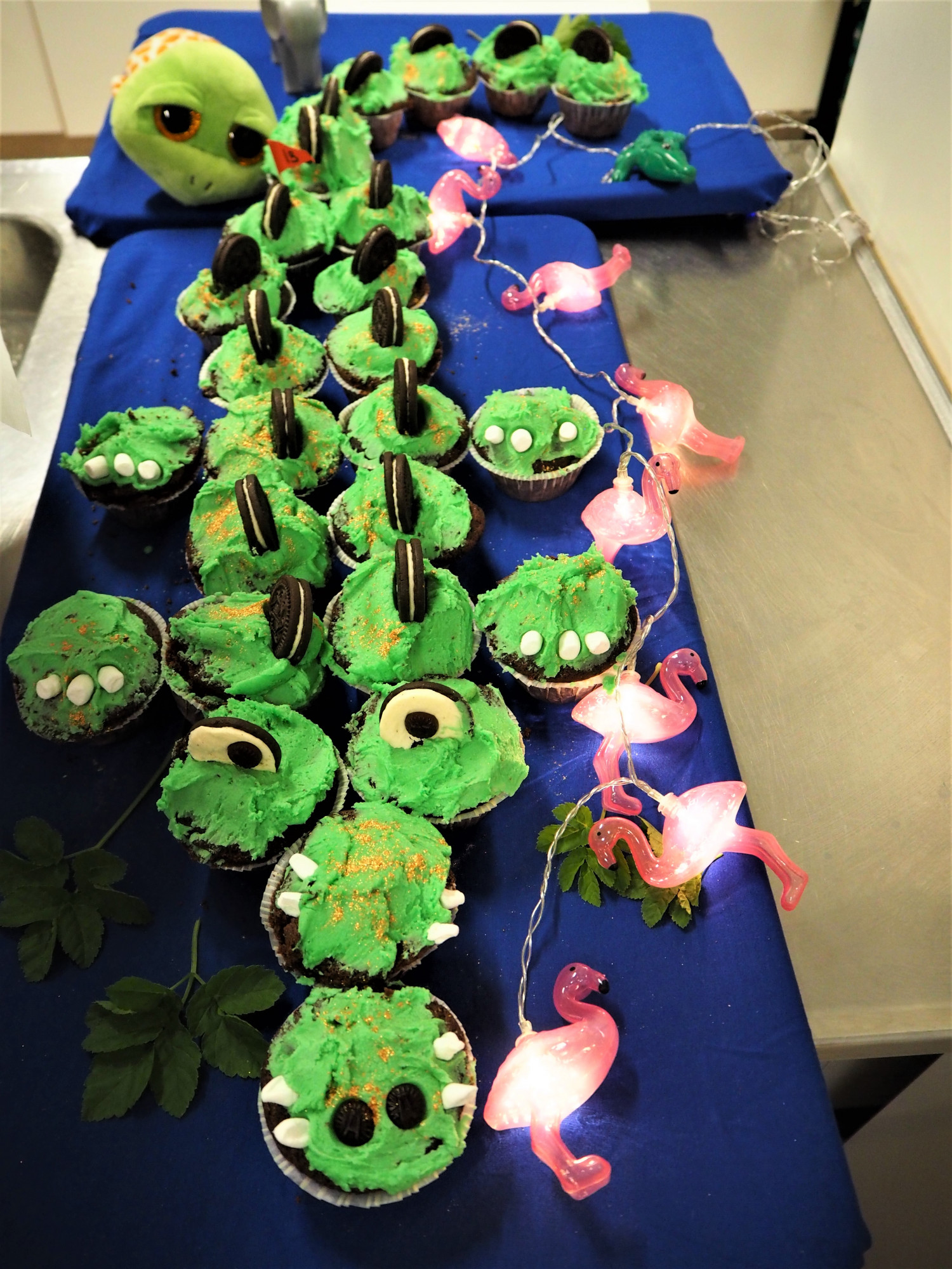 Krokodillekage sjov fødselsdagskage for børn