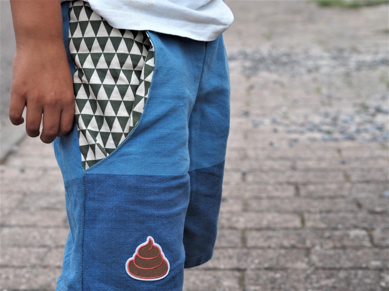 DIY shorts sy af genbrug tøj til drenge