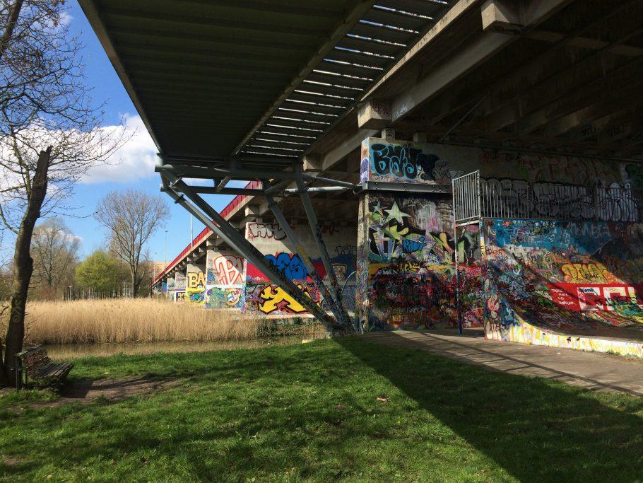 Grafitti i Flevopark