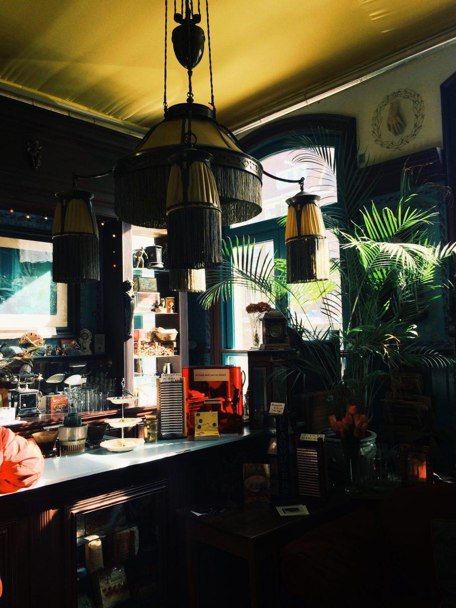 Pianolamuseets i Amsterdams café