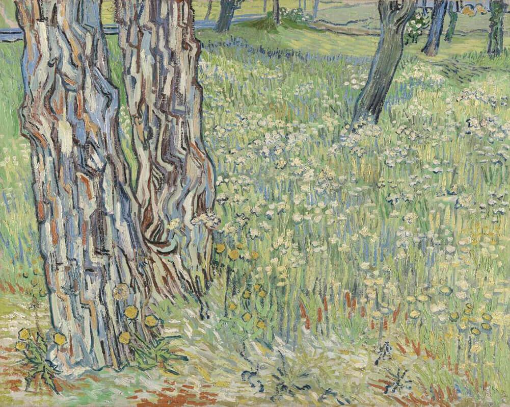 boomstammen-in-het-gras-vincent-van-gogh-44516-copyright-kroller-muller-museum