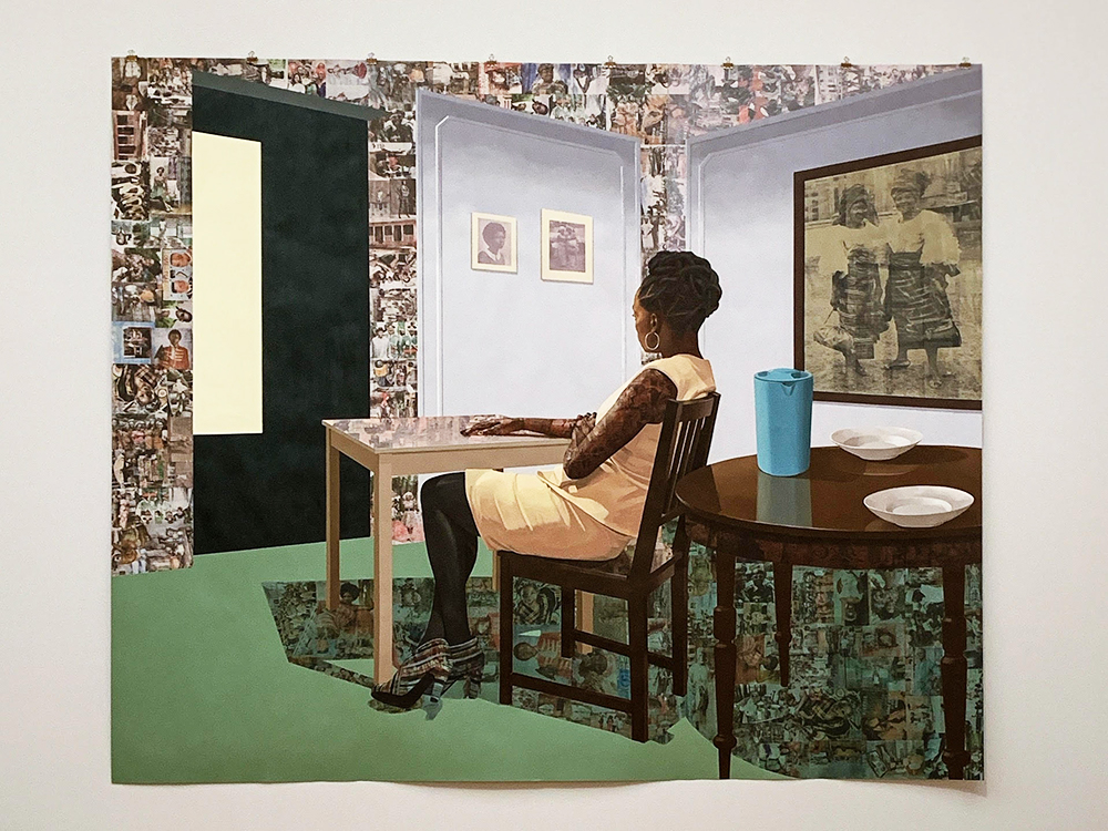 Njideka Akunyili Crosbys (f. 1963) In the Lavender Room (2019)
