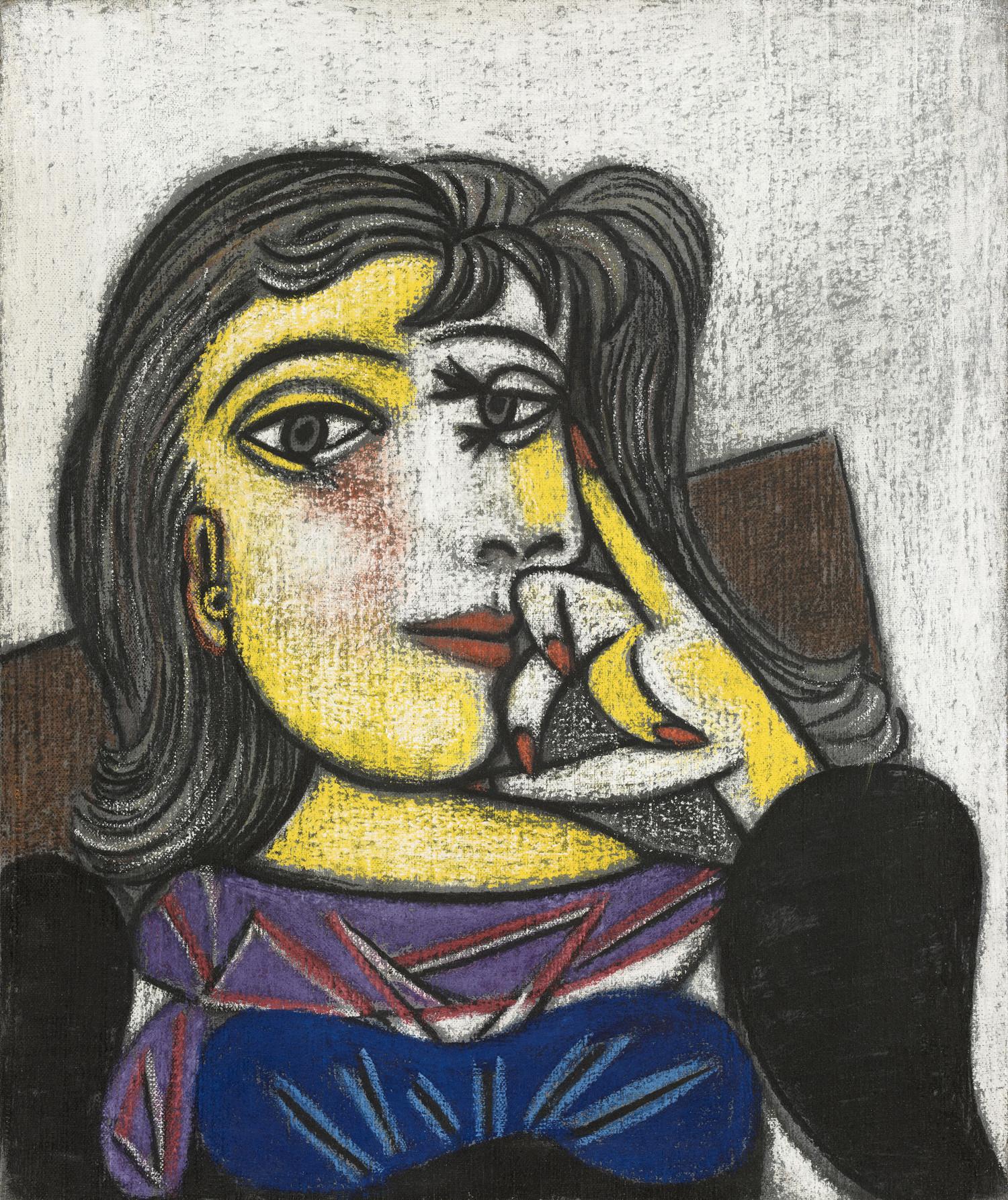 Pablo Picasso, Portrait de Dora Maar, 1937. Olie og pastel på lærred. Musée national Picasso-Paris © Succession Picasso / VISDA 2019