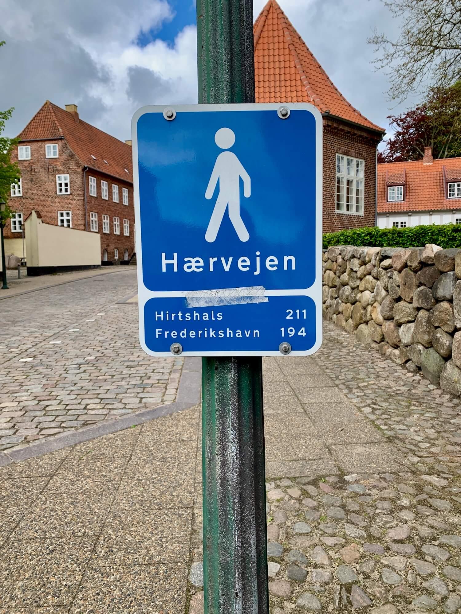 Hærvejen skilt Viborg