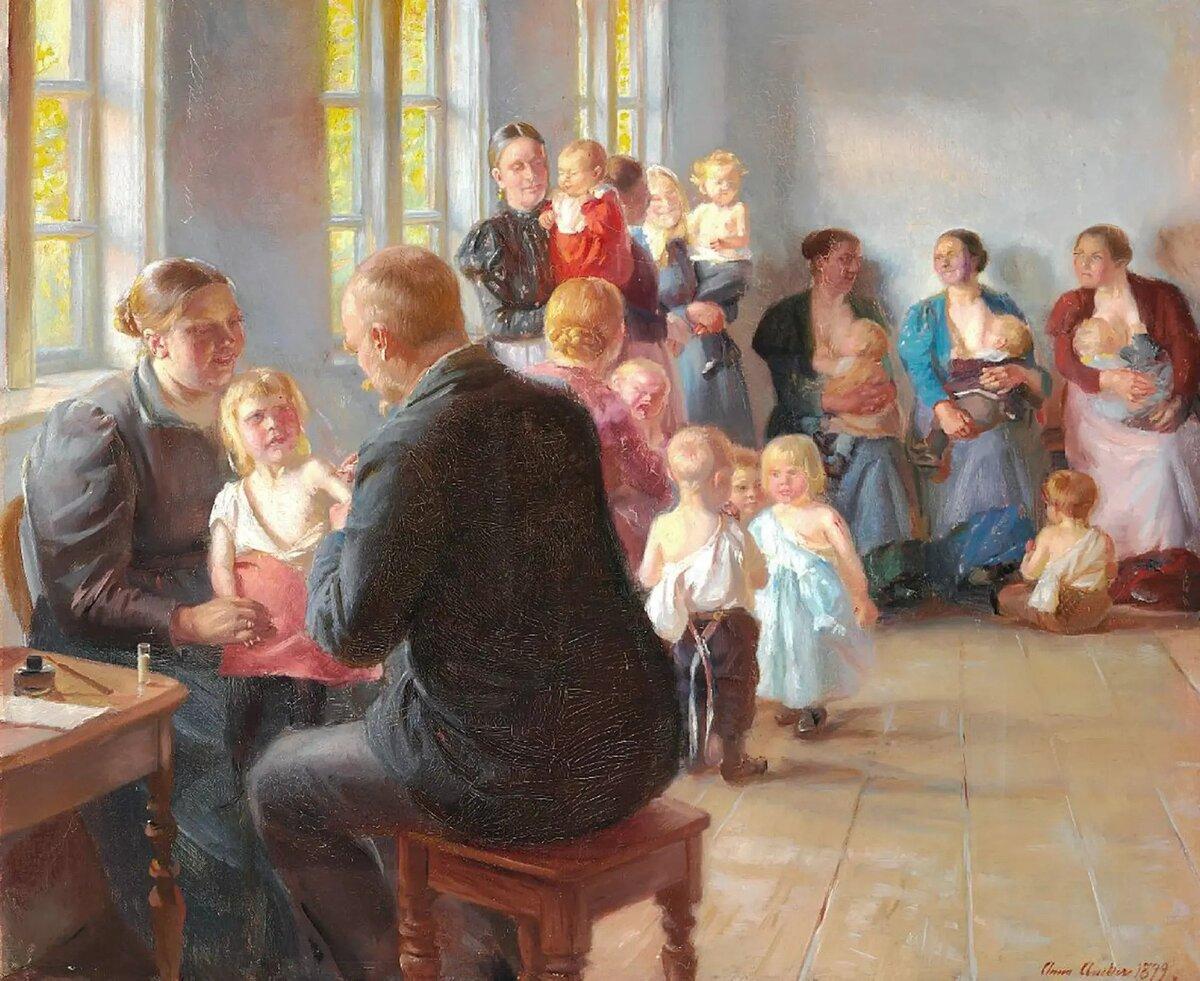 Anna Ancher En vaccination (1899)