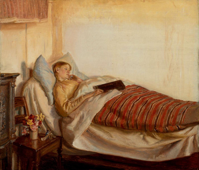 Michael Ancher En syg ung pige.