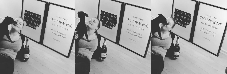 Dyrlæge og madblogger Beksemad Rebekka Mikkelsen fra MasterChef 2019 elsker champagne