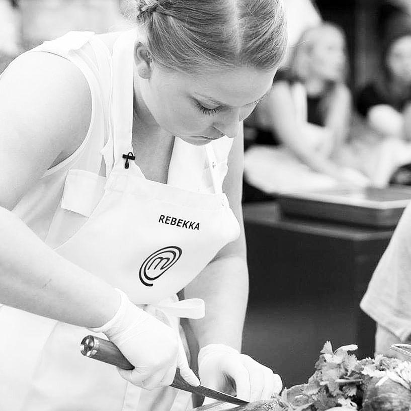 Rebekka Mikkelsen i MasterChef til MasterClass om fisk og optur over at Mielcke er der. Foto: TV3
