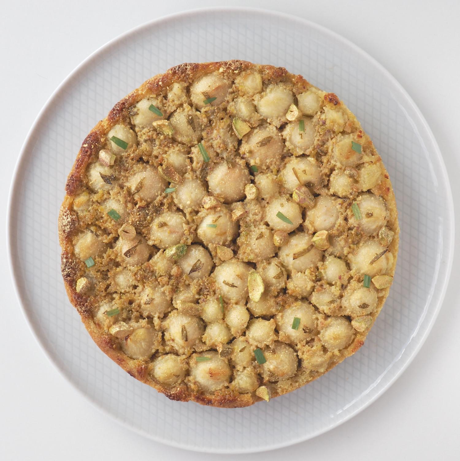 Pæretærte med pistaciefrangipane og estragon af Rebekka Mikkelsen Beksemad